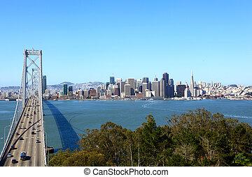 San Francisco Skyline - Bay Bridge and San Francisco...