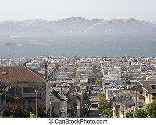 San Francisco Neighborhood in California
