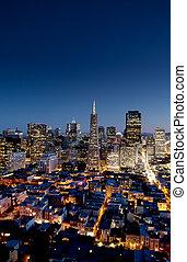 San Francisco - Night cityscape of San Francisco business...