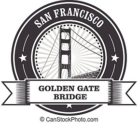san francisco, symbole, -, porte or