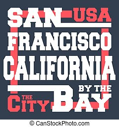 San Francisco t-shirt print design