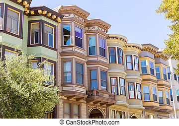 San Francisco Victorian houses California - San Francisco...