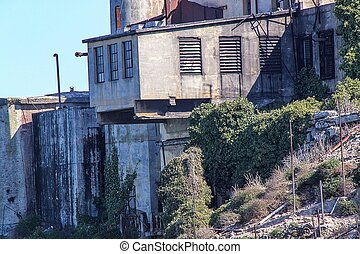 San Francisco. View on Prison Alcatraz. Maximum high security federal prison. USA.