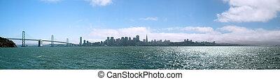 San Franciscoand the Bay Bridge seen from Treasure Island