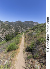 San Gabriel Mountains Los Angeles County - Hiking trail...