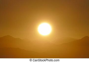 San Gabriel National Monument Mountain Ridge Sunrise