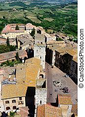 San Gimignano, town of beautiful towers, Tuscany