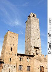 San Giminiano towers in Tuscany, Italy