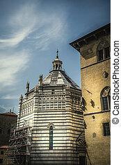 San Giovanni in Corte baptistery in Pistoia, Italy