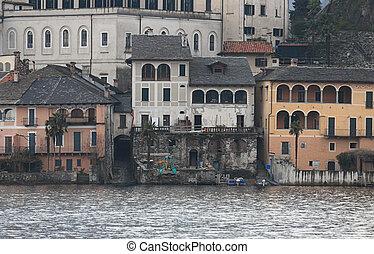 San Giulio isle Orta Lake, Italy