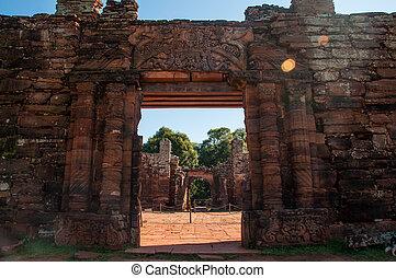 San Ignacio Mini Jesuites ruins, Misiones, Argentina.