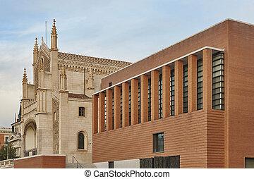 san, jeronimo, neogothic, igreja, marco, em, madrid, centro...