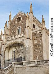 san, jeronimo, neogothic, igreja, marco, em, madrid, cidade,...