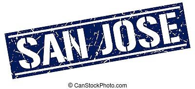 San Jose blue square stamp