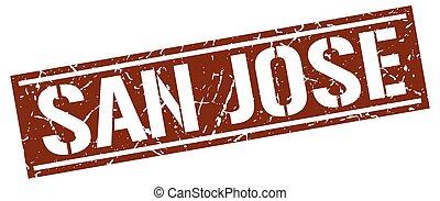 San Jose brown square stamp