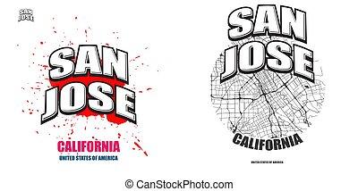 San Jose, California, two logo artworks