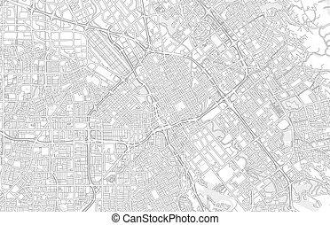 San Jose, California, USA, bright outlined vector map