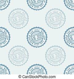 San Jose seamless pattern. Seamless badge pattern, backdrop...