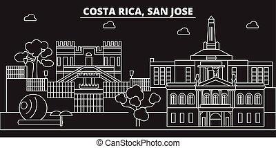 San Jose skyline. Costa Rica - San Jose vector city, costa...