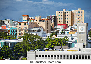San Juan, Puerto Rico cityscape.
