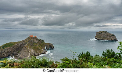 San Juan de Gaztelugatxe island, islet and church time...