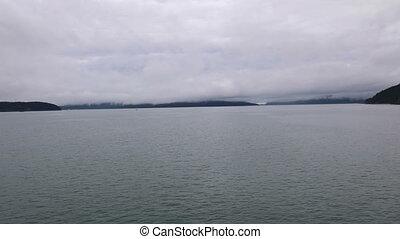 San Juan Islands Washington State foggy day on the water