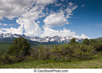 San Juan Mountains, Colorado - Summer afternoon in the San...