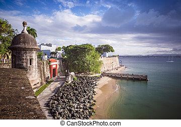 San Juan, Puerto Rico coast.