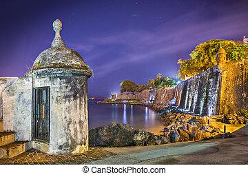 San Juan, Puerto Rico Coast - San Juan, Puerto Rico coast at...