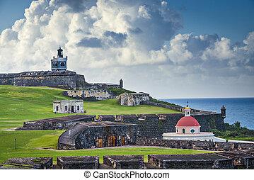 San Juan, Puerto Rico Fort - San Juan, Puerto Rico historic...