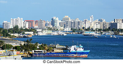 San Juan, Puerto Rico Skyline - Skyline of the New City at...
