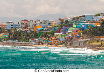 San Juan, Puerto Rico stays true to its heritage and shows off its vibrant culture with its colorful neighborhoods overlooking the ocean.