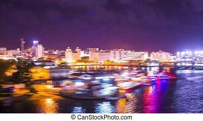 San Juan, Puerto Rico time lapse from the coast. POV