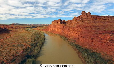 San Juan River Halchita Utah Monument Valley North America -...