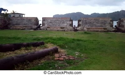 San Lorenzo fort Spanish ruins. Environmental factors, lack of maintenance and uncontrollable urban developments have cited UNESCO List of World Heritage in Danger, Panama