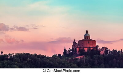 San Luca Church Bologna - San Luca basilica church on...