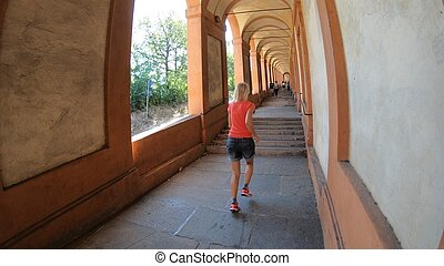 San Luca's porch running