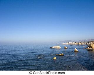 San Luis Obispo Coast - Bluffs and Island of San Luis Obispo...
