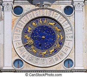 San Marco astrology clock - Zodiac clock at San Marco square...