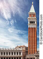 San Marco Campanile and Biblioteca Nazionale Marciana in ...