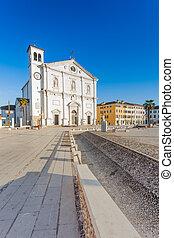 San Marco church in the square of Palmanova, Friuli Venezia...