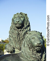 San Marco Florida Lion Sculpture - Lion statue in San Marco...