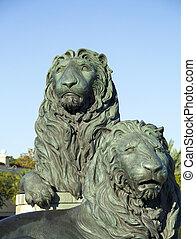 San Marco Florida Lion Sculpture - Lion statue in San Marco...