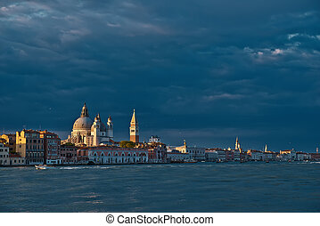 San Marco sunset in Venice, Italy