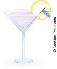 San Marino Cocktail - Cocktail with a flag of San Marino.