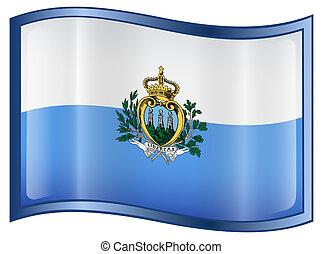 San Marino Flag icon. - San Marino Flag icon, isolated on ...