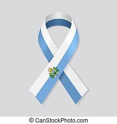 San Marino flag stripe ribbon on white background. Vector ...