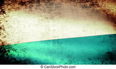 San Marino Flag Waving, grunge look
