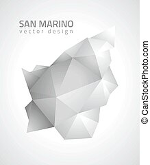 San Marino grey vector map - San Marino map, vector modern ...