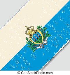 San Marino grunge flag. Vector illustration. - San Marino ...